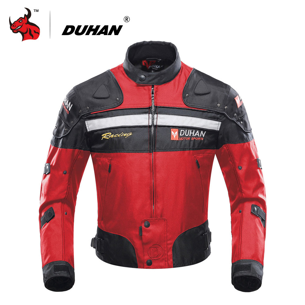 все цены на DUHAN Motorcycle Jackets Motorbike Windproof Racing Jacket Protective Gear Winter Moto Jacket Men Motorcycle Clothing онлайн