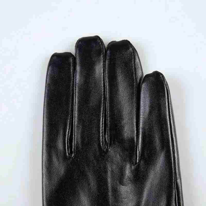 Men's Gloves Klv Men Fashion Warm Cashmere Leather Male Winter Black Gloves Driving Waterproof Brand New High-quality Warm In Winter Z0927