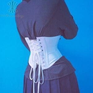 Image 3 - Annzley Underbust korse kısa bel eğitmen çelik kemikli vücut şekillendirici kemer bel Cincher Korsett kadınlar için
