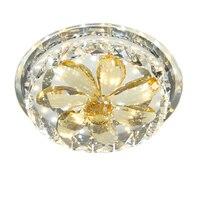 Criativo LED corredor de cristal LED lâmpada do teto lâmpada luz luminária de teto luzes varanda corredor casa circular ZA ZL503