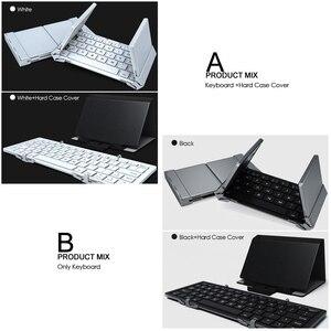 Image 5 - B.O.W بلوتوث صغير لوحة المفاتيح طوي ، للطي الألومنيوم الحال بالنسبة iOS ، أندرويد ، ويندوز ، الكمبيوتر ، أقراص والهاتف الذكي