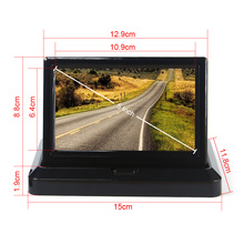 "5"" Car Rear View System Foldable TFT Color LCD Car Reverse Rearview 5 inch 16: 9 Car Security Monitor for Camera DVD VCR 12V(China (Mainland))"