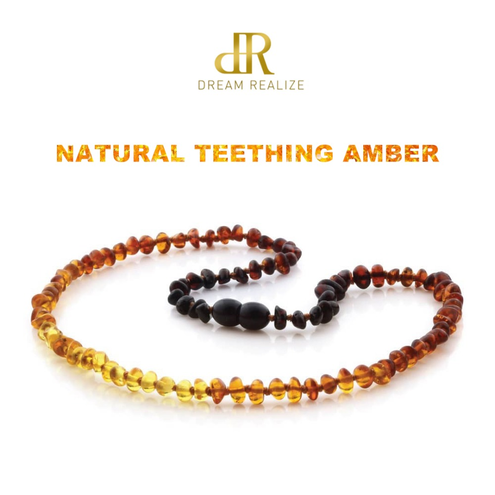 Classic 10 Colors Original Amber Teething Necklace for Baby Lab Tested Authentic Natural Amber Stone Necklaces for Baby Jewelry 574 classic
