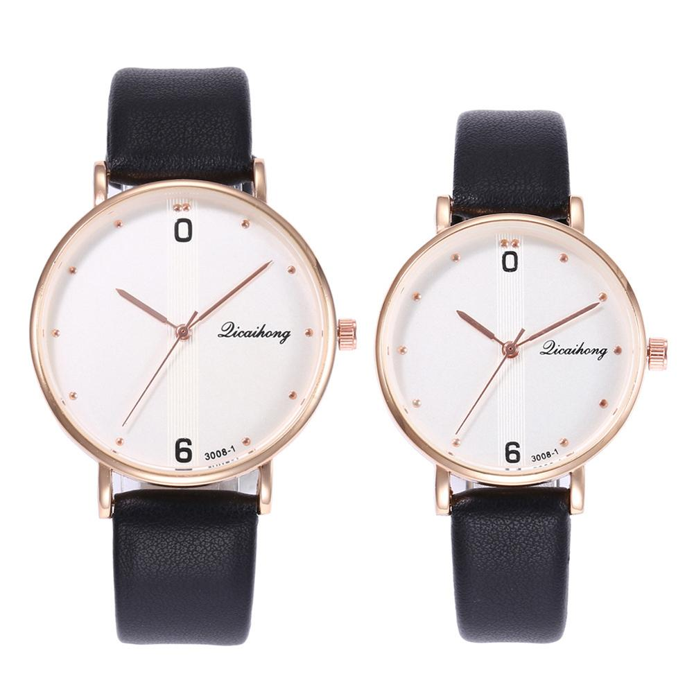 Relogio Fashion Women Men Arabic Numbers Quartz Analog Round Dial Party Wrist Watch Hodinky Reloj Mujer New