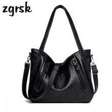 Women PU Leather Shoulder Bag Ladies Luxury Brand Handbag Large Capacity Messenger Bag Designer Bags Famous Casual Tote