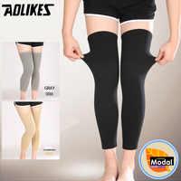1 paire élastique sport longue jambe genou soutien attelle protecteur chaud genou manches sangle basket-ball Volleyball genouillères HBK011