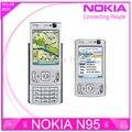 Мобильный телефон Nokia N95, отремонтированный wi-fi GPS 5 mp 2.6 ''Screen wi-fi 3 G разблокированный