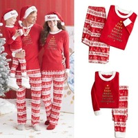 Family Matching Pajamas Set Christmas Mom Father Kid Baby Sleepwear Nightwear 2019 New Costume Clothes Xmas Family Match PJS Set