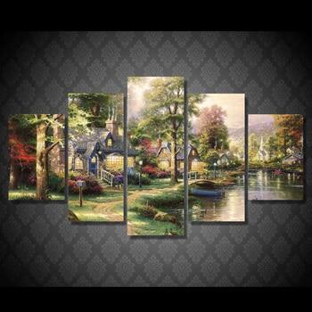 5Planes,Full Round 5D DIY Diamond Painting Fairy tale village,3d,Diamond Embroidery Cross Stitch,Mosaic,stickers,Christmas,art