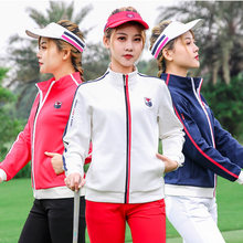 New Brand LOGO Women's Golf Jackets Winter Autumn Spring Outdoor Leisure Sport Jacket Zipper Warm Windproof Soft Slim Coat Woman(China)