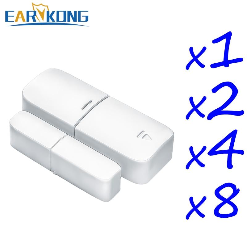 EARYKONG 433MHz Wireless Door Window Open Detector Door Gap Detector Wholesale Prices For Home Burglar (Wifi / GSM) Alarm System