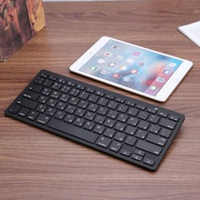 Russian English Wireless Bluetooth3 0 2 4 GHz Mini Slim keyboard for Tablet Laptop Smartphone Support