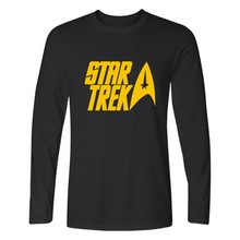 New Star Trek T Shirt Men Hip Hop Tee Harajuku Spock Live Long and Prosper Long Sleeve T-shirts with Men TShirt Brand Famous 4XL
