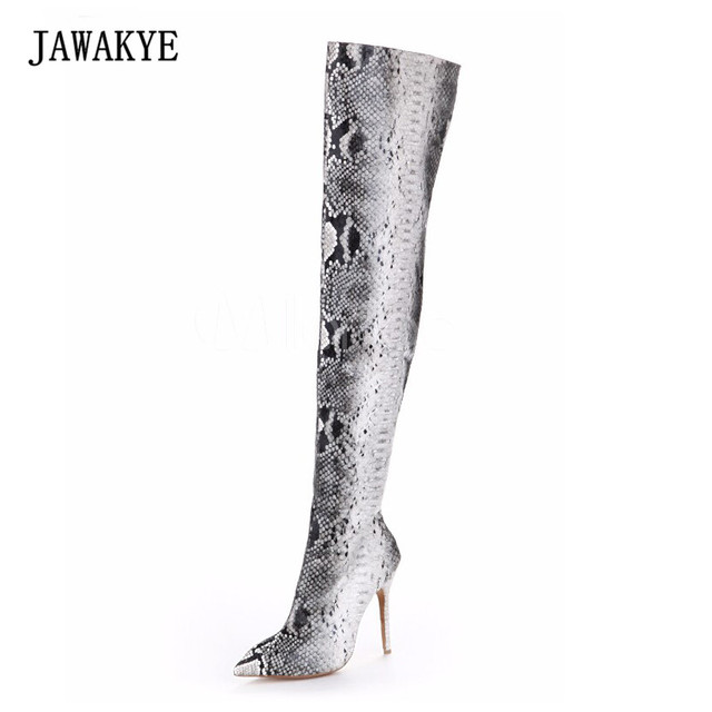 31f77308b871 Womens thigh high over knee boots club heels pointed toe