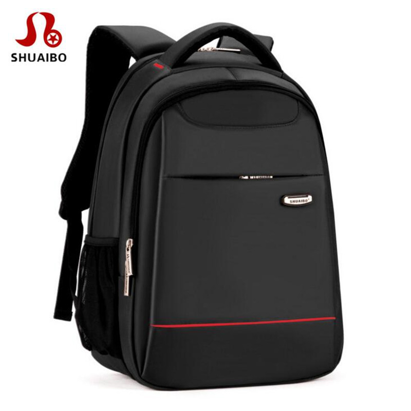 Shuaibo Brand Men's High School Student Backpack Fashion Business Traveling Bags High Quality 16 Inch Laptop Backpacks X791