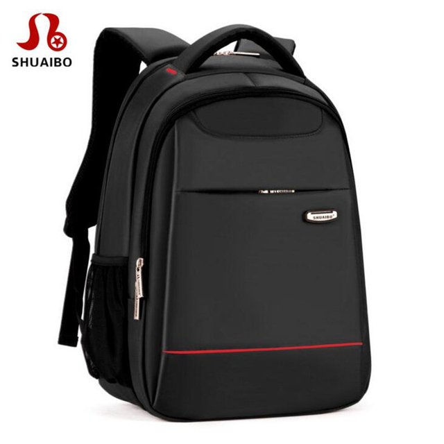 74ec2a4bfba9 Shuaibo Brand Men s High School Student Backpack Fashion Business Traveling  Bags High Quality 16 Inch Laptop Backpacks X791