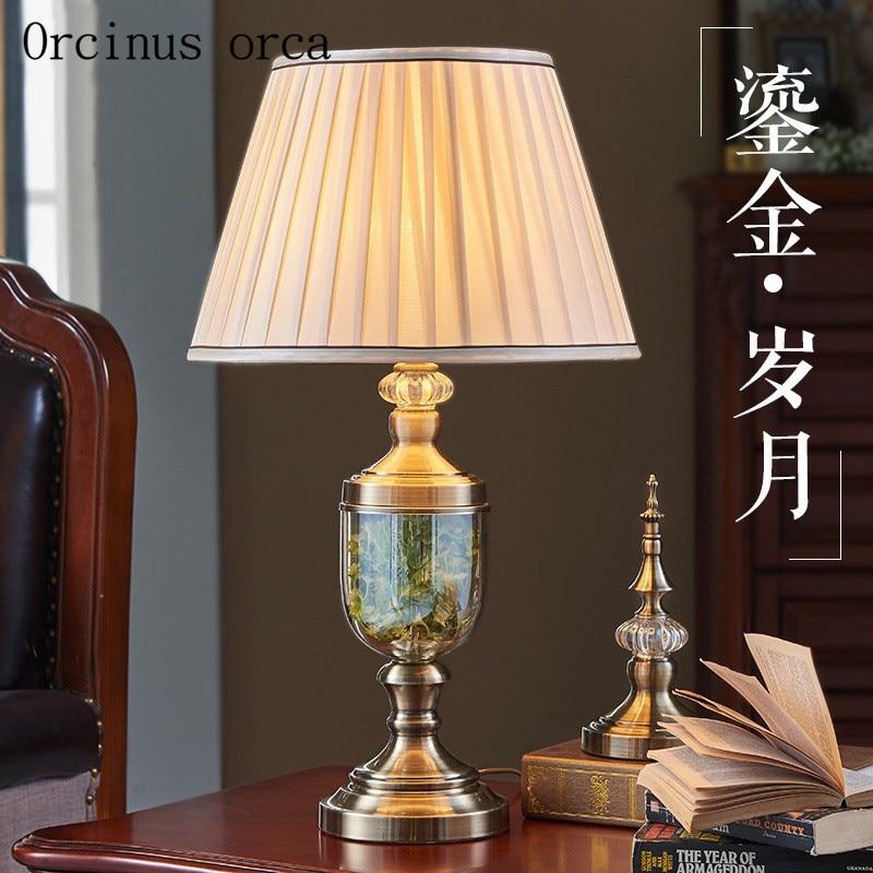 Nordic современный упрощенный Стекло Настольная лампа столовая ваза украшение Европейский стиль творческий ночники