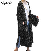 HziriP 2017 Autumn Open Stitch 3 Colors Women Sweater Slim Lady Long Knitted Cardigans Tops Casual Poncho Female Solid Sweater