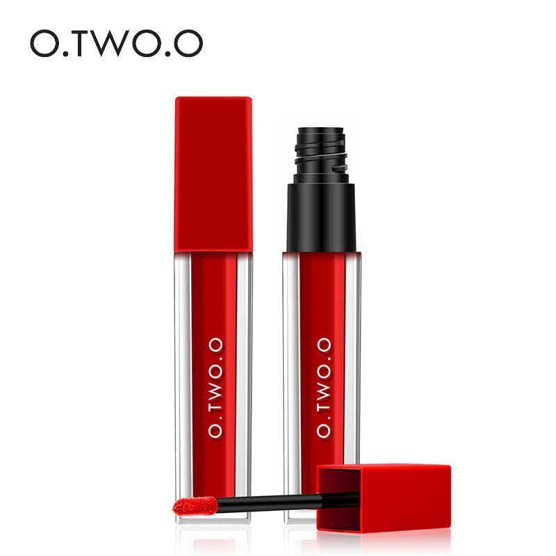 O.TWO.O Liquid Lipstick Sexy Colors Matte Velvet Lip Gloss Tint Waterproof Long Lasting Lip Paint Nude Cosmetic 15 Colors