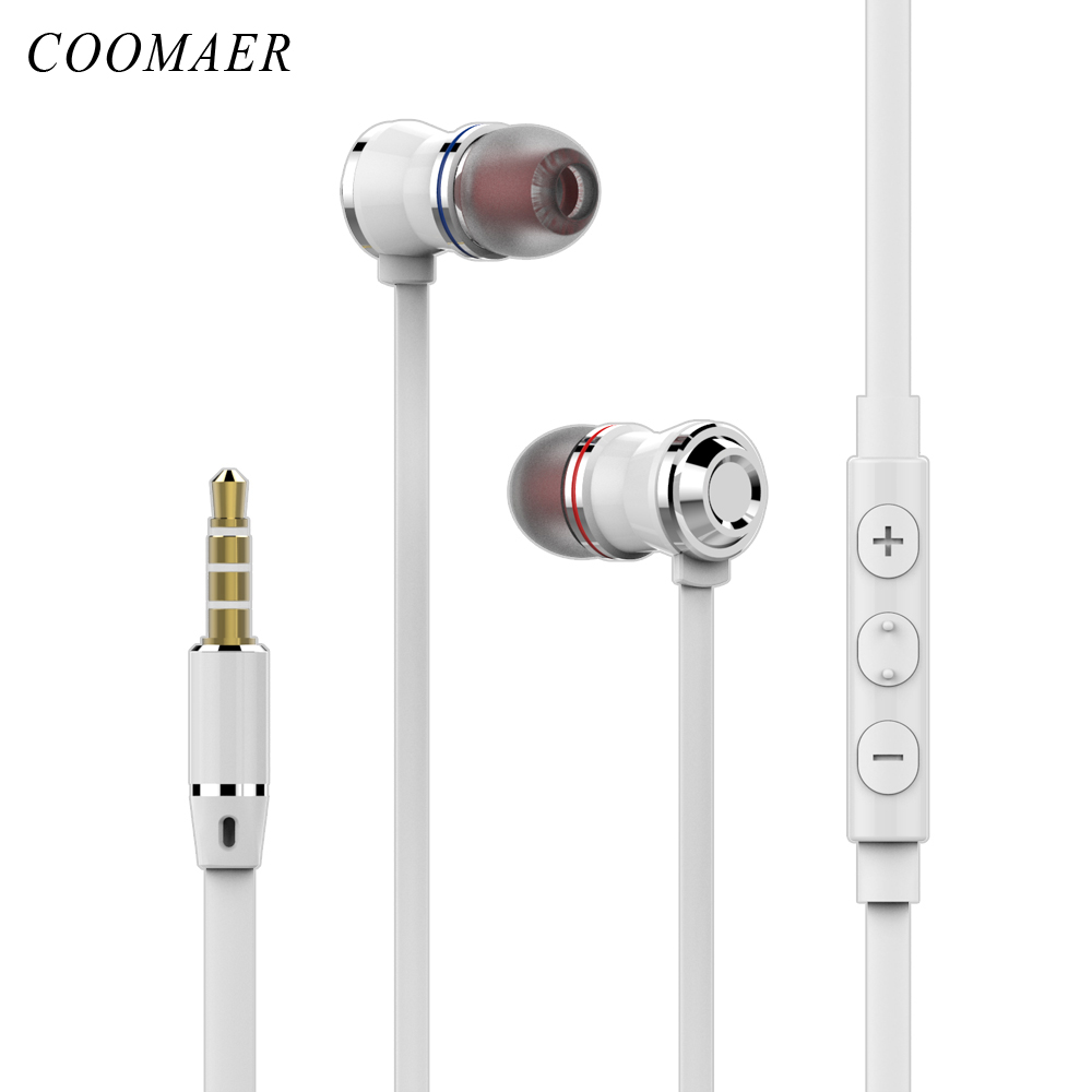 Original 3.5 MM Metal In-ear Wired Earphones Stereo Bass Earphone Headphone With Microphone For Phone Computer Headset
