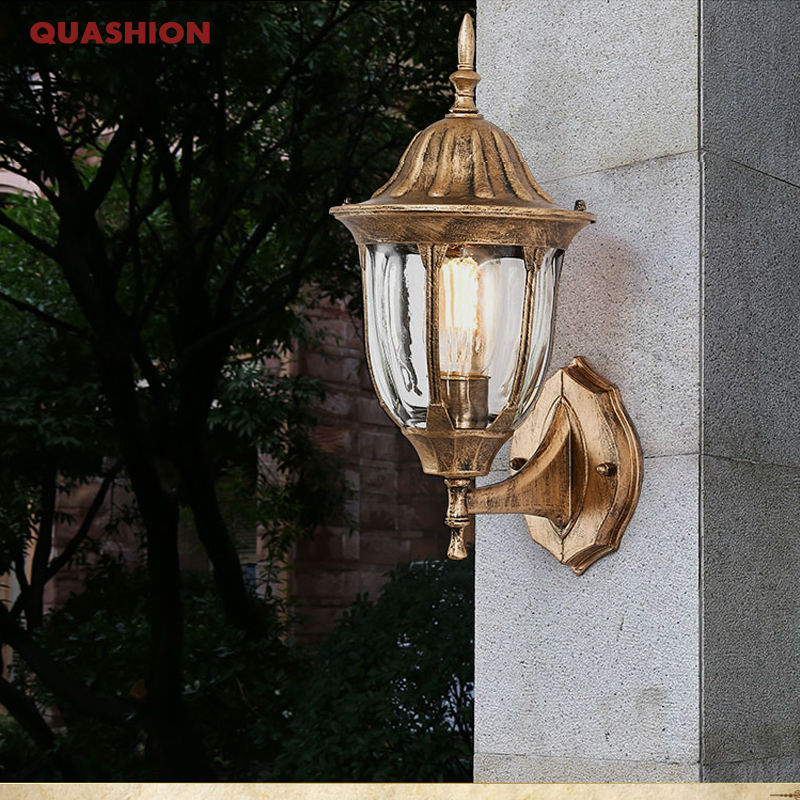 American Edison Retro Wall lamp Outdoor Wall Sconce Lighting Simple Waterproof Garden Wall Light Glass Porch Lights Lampara retro outdoor wall sconce lighting balcony led wall lamp waterproof garden wall light fixtures metal glass porch lights