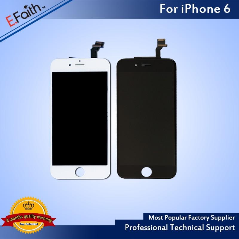 """imágenes para 20 UNIDS/LOTE Shenchao AAA Blanco y Negro Gran Embalaje Frontal LCD de Repuesto Asamblea Del Digitizador para el iphone 6 4.7 """"DHL libre Envía"""