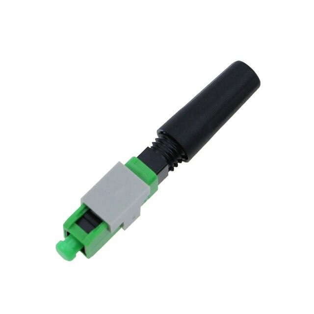 100PCS SC APC pre-bur Fiber Optic Quick Connector FTTH Quick Assembly Fiber Optical Connector /SC Fiber Optic Fast Connector