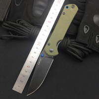 Land 9106 12C27 Blade G10 handle Folding Knife Outdoor Hunting Camping Survival EDC Pocket Tool Light Cutting Kitchen Knives