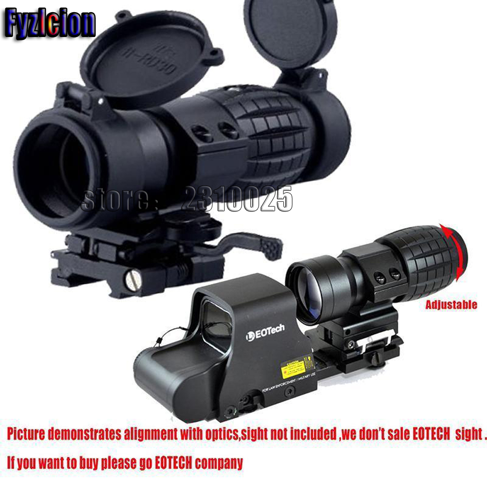 Tactical 3X-FTS Magnifier Scope Sight with QD Flip to Side Mount for 20mm Rail 3x magnifier scope compact tactical sight with flip to 20mm rifle gun rail mount use with 551 552 553 riflescope