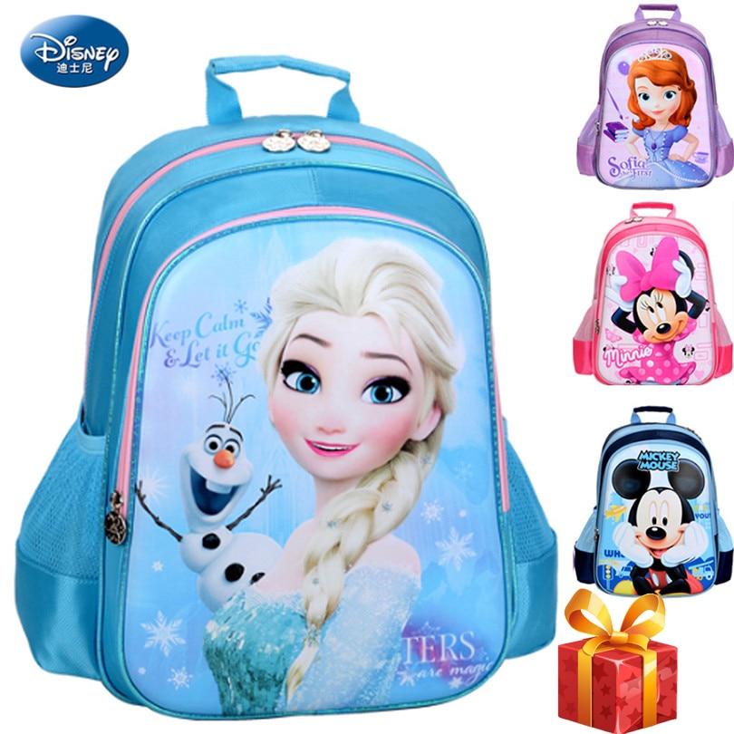 Disney 2019 Frozen Princess SchoolBags Protect the Spine Backpack Schoolbag Kids Backpack Ultralight Kids Girls School Bag
