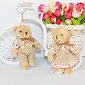 Para el Regalo De Navidad NUEVO 12 CM 2 unids/lote pp algodón juguetes para niños ramos de flores oso de peluche pequeño mini oso de peluche boda
