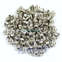 Toothed Hex 6 32 Computer PC Case Hard Drive Motherboard Mounting Screws 100pcs H028