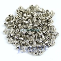 Toothed Hex 6/32 Computer PC Case Hard Drive Motherboard Mounting Screws 100pcs #H028#