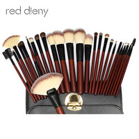 26 Pc Brushes Set Pro Soft Horse Hair Makeup Foundation Brush Maquillage For Eye Face Shadows
