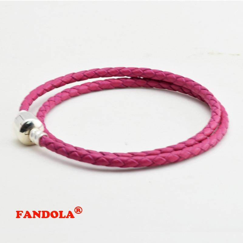 Rozā rozā ādas aproces 925 sudraba rotaslietas - bezmaksas - Skaistas rotaslietas