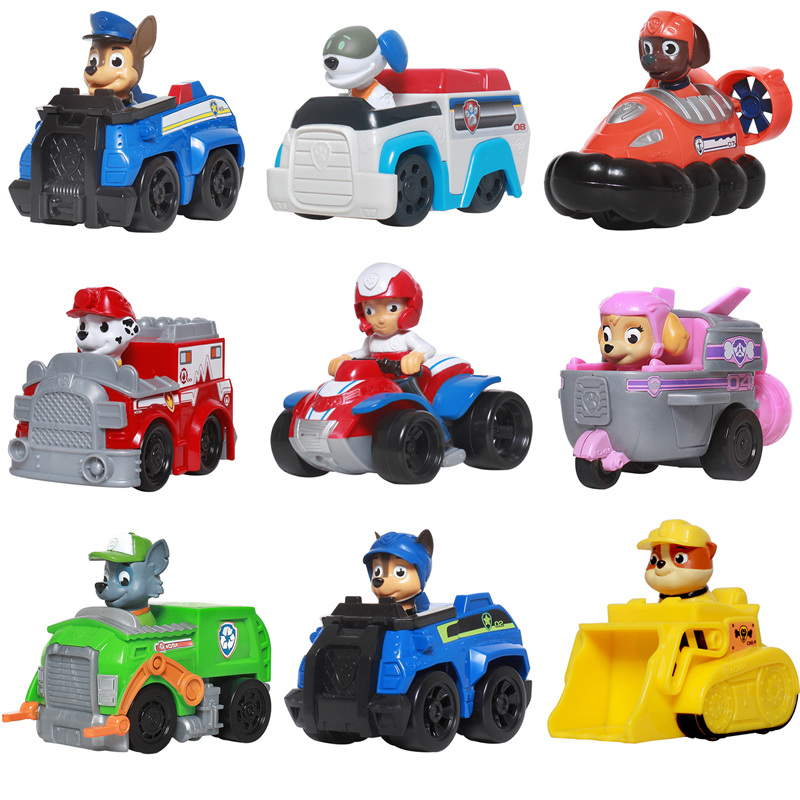 Paw patrol dog puppy car Patrulla Canina toy action character model Marshall Ryder Skey Chase childrens gift