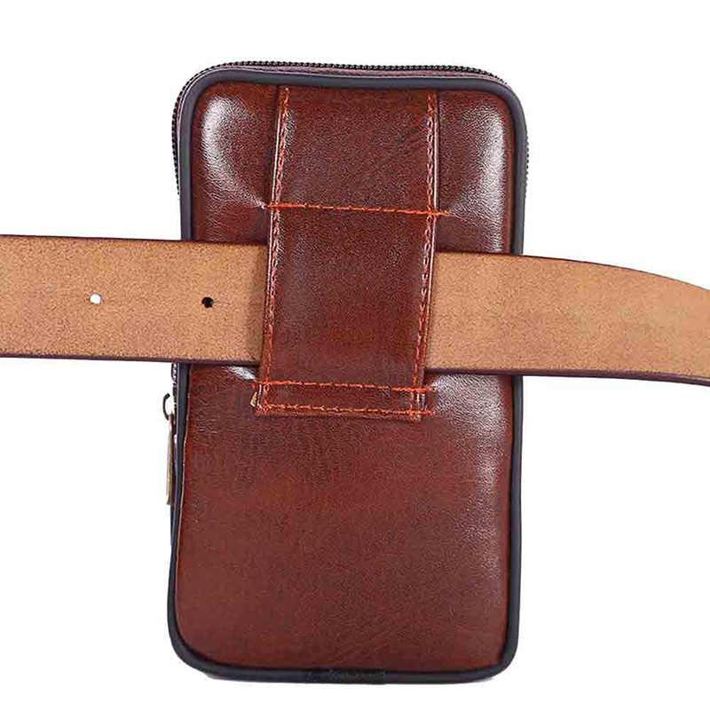 Mini Männer Faux Leder Taille Tasche Mehrzweck Camping Wandern Zipper Taktische Gürtel Außen Beutel Taille Tasche Vintage Sicherheit Pack