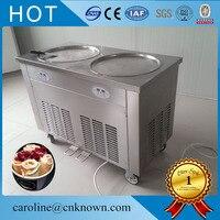 Darmowa wysyłka podwójna patelnia smażona maszyna do lodów; smażenie maszyna do lodów; maszyna do lodu