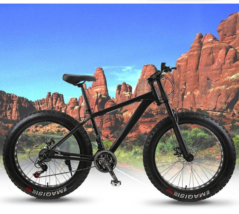 HTB1BF3QJVGWBuNjy0Fbq6z4sXXa6 wolf's fang Mountain Bike bicycle fat bike 21 speed Aluminum alloy frame 26 inch  road Snow bikes Man Free shipping