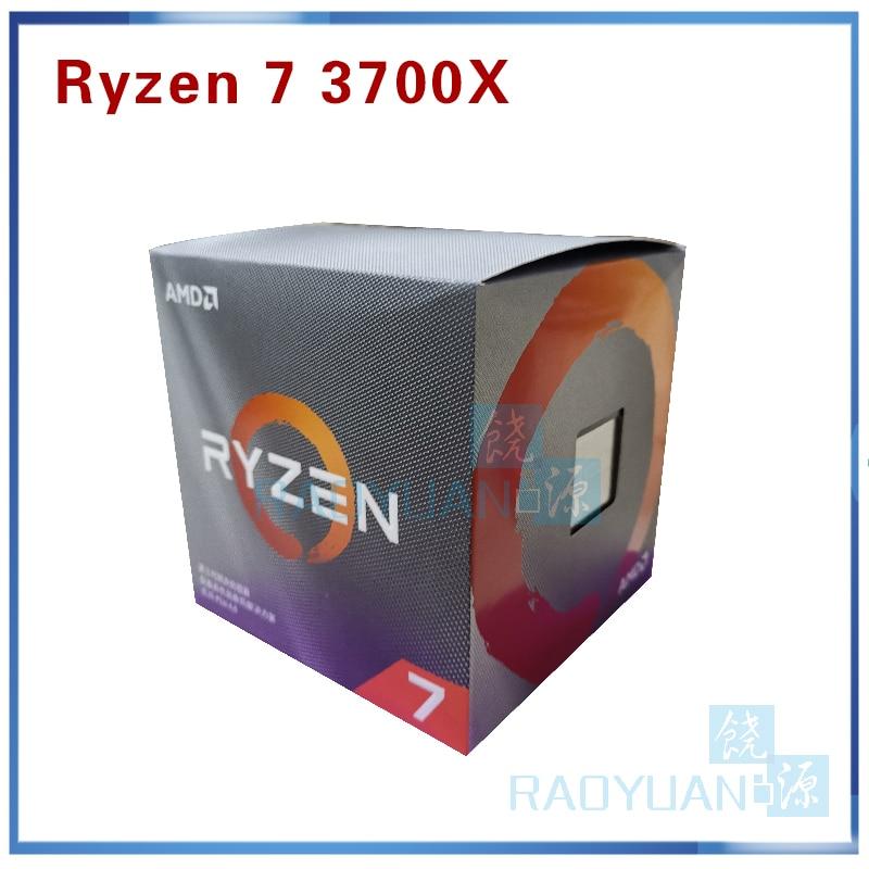 Image 2 - AMD Ryzen 7 3700X R7 3700X 3.6 GHz 7NM L3=32M 100 000000071 8 Core 16 Thread CPU Processor Socket AM4 with cooler cooling fanCPUs   -