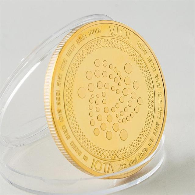 2018 New Arrival IOTA virtual digital currency Bitcoin embossed three-dimensional commemorative coin Dropshipping 4