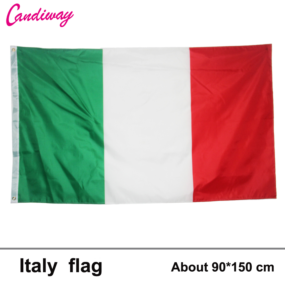 3ft x 5ft Italy Polyester Flags <font><b>Home</b></font> <font><b>Decoration</b></font> flag banner <font><b>Italian</b></font> Flag Flying Flag No Flagpole 90*150cm
