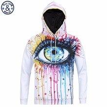 Mr. banglong sehr cool trend mode jugend mit kapuze hoodies männer 3D Graffiti bemalt augen gedruckt männer Harajuku sweatshirts H3