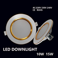 Led Downlights 10W 15W  220V LED Ceiling Downlight 2835 Lamps Led Ceiling Lamp Home Indoor Lighting Free shipping