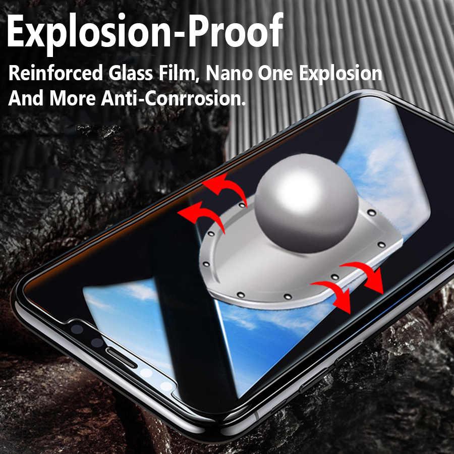 Dla apple iphone x ochraniacz ekranu na iphone szkło hartowane film ochronny aphone glas xs xr max s xs max iphone x pobla de segur w iphone