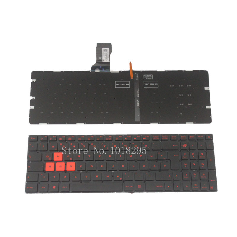 NEW German keyboard for Asus GL502VT ROG GL502 GL502VM With backlight GR Laptop keyboard hook ups counter attack