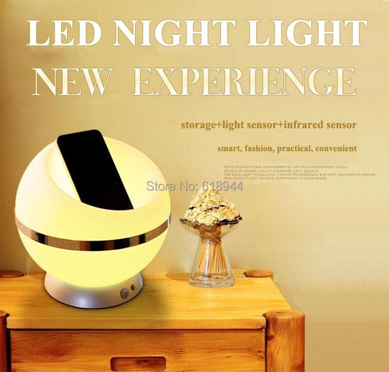 ФОТО Human body induction and light led sensor night light with storage light design