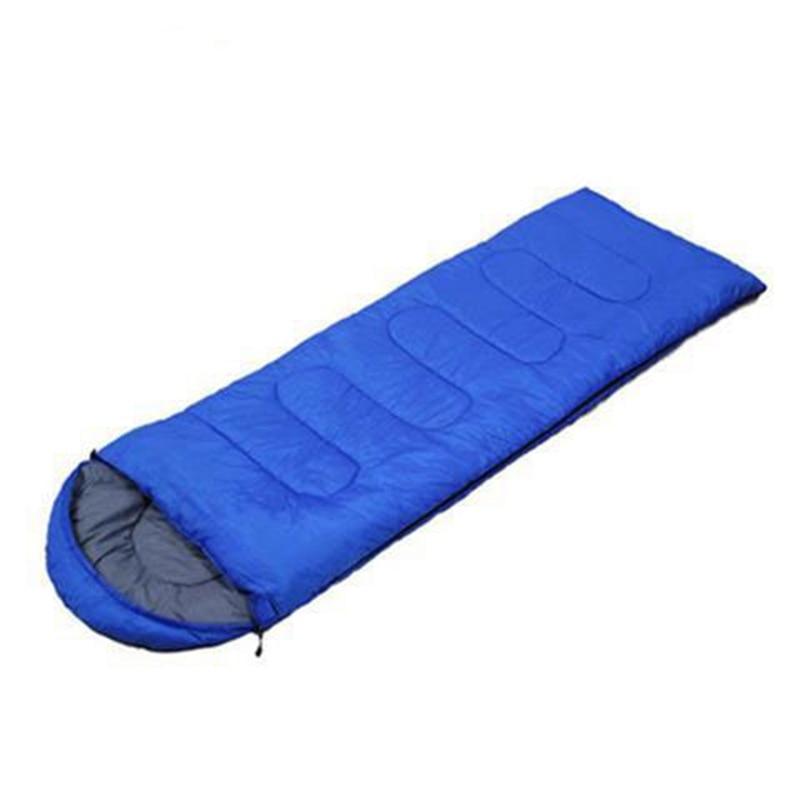 Спальный мешок для кемпинга, теплый зимний спальный мешок для взрослых, спальный мешок для путешествий, Прямая поставка - Цвет: Синий