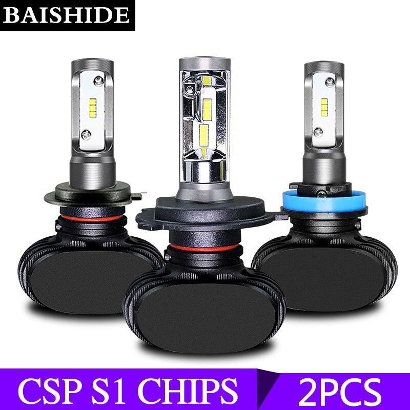 BAISHIDE led scheinwerfer lampen H4 LED H7 Auto Auto Scheinwerfer 9005 9006 H3 H13 H8 880 H27 9004 9007 H11 LED H1 S1 50 W 8000LM 6500 K
