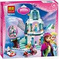 Hot 10435 Chica Amigos JG301 Castillo de Hielo Espumoso de Elsa Anna Queen Elsa Kristoff Olaf Juguete de Construccion